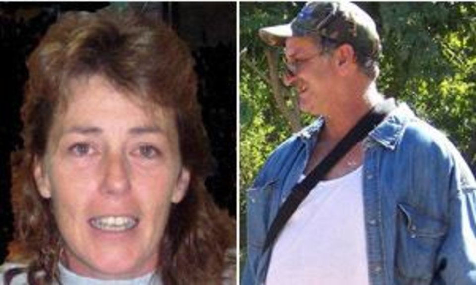 Photo - These undated photos provided by the U.S. Marshals Service shows Casslyn Welch and John McCluskey. The search for an John McCluskey, an Arizona prison inmate and Casslyn Welch, a woman who helped him and two murder suspects escape is still focused on western Montana and the northwestern U.S. and Canada. The last credible sighting of Casslyn Welch and John McCluskey was on Aug. 6 in Billings, Mont., and the couple are likely still traveling in a gold, tan or gray 1997 Nissan Sentra. (AP Photo/U.S. Marshals Service) ORG XMIT: NY128