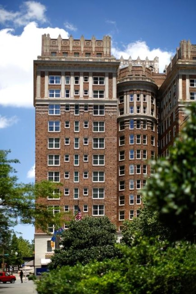 Photo -  The historic  Skirvin Hilton Hotel in downtown Oklahoma City is among those closed as the pandemic shuts down travel throughout the country. Oklahoman Archives.