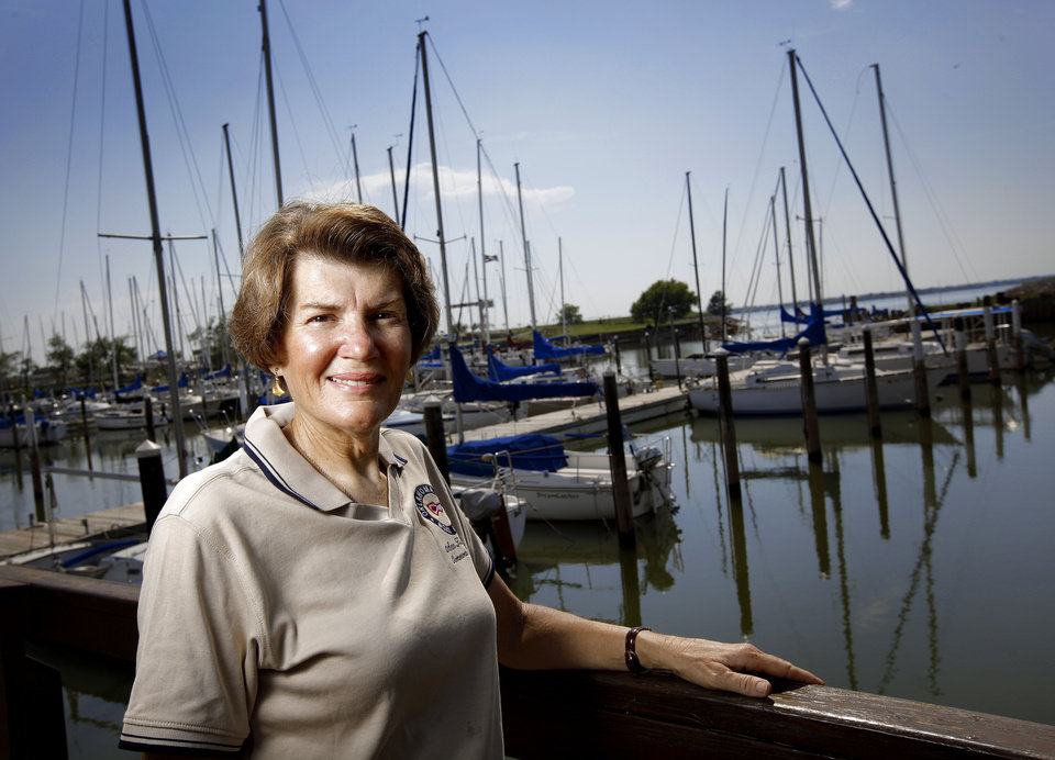 Photo - Ann Kilpatrick, commodore for the OKC Boat Club, poses for a photo at Lake Hefner in Oklahoma City, Wednesday, August 26, 2009. Photo by Bryan Terry, The Oklahoman ORG XMIT: KOD