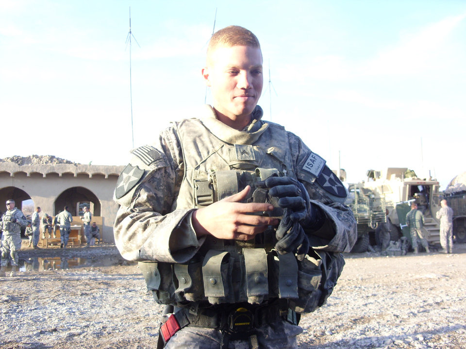 Photo - Rex Schad, of Edmond, is shown in this 2010 photo. The Army staff sergeant was killed Monday, March 11, 2013, in Afghanistan. Photo provided  PROVIDED