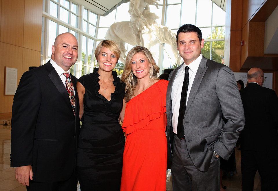 Tommy and Jenna Cunningham, Angela and Jeff George. PHOTO BY DAVID FAYTINGER, FOR THE OKLAHOMAN <strong></strong>