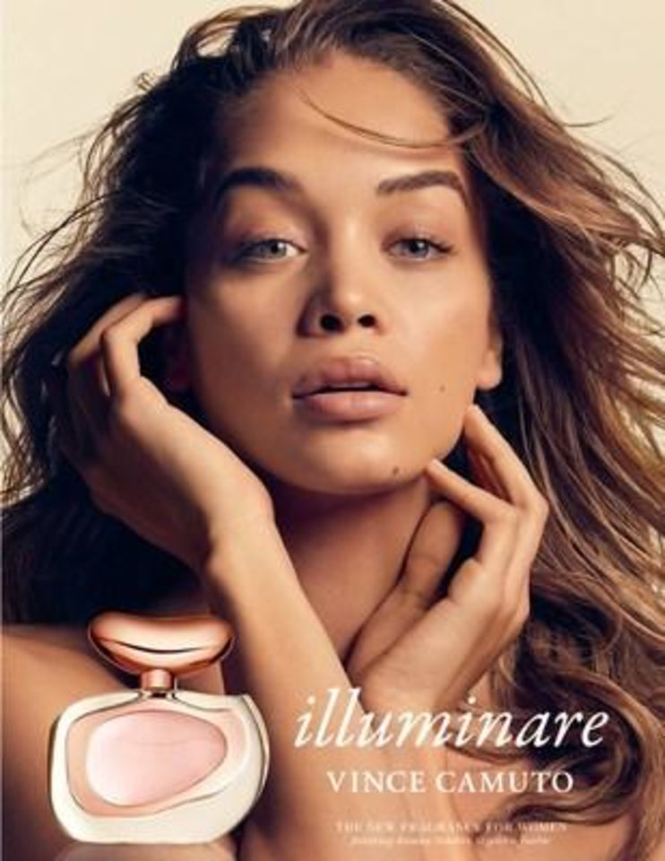 Photo - Influencer Jasmine Sanders if the face of the Illuminare fragrance campaign.