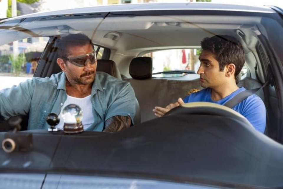 Photo -  This image released by 20th Century Fox shows Dave Bautista, left, and Kumail Nanjiani appear in a scene from