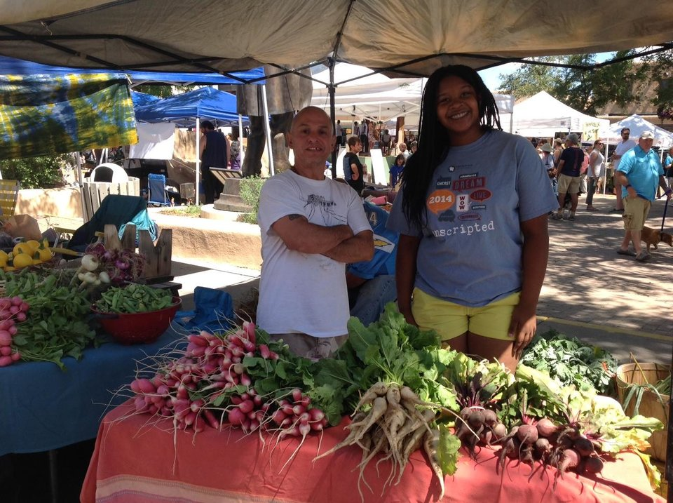 Photo - My daughter loved seeing the locally grown produce at the farmer's market. Photo by Carla Meadows
