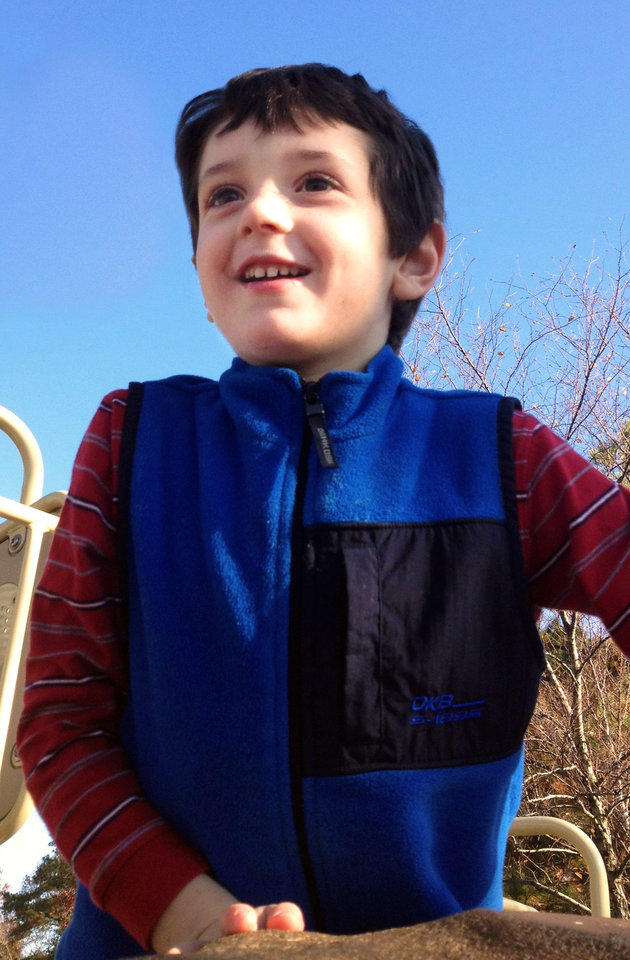 This undated photo made available on behalf of the Wheeler family shows Benjamin Wheeler, 6. Wheeler was killed on Friday, Dec. 14, 2012, when a gunman walked into Sandy Hook Elementary School in Newtown, Conn. and opened fire, killing 26 people, including 20 children. (AP Photo/The Wheeler Family)