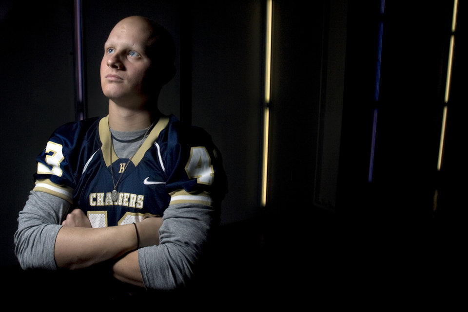 Photo - HIGH SCHOOL FOOTBALL: Ford Price poses for a photo at the Heritage Hall gym, Tuesday, Dec. 2. 2008, in Oklahoma City, Okla. STAFF PHOTO BY SARAH PHIPPS  ORG XMIT: KOD