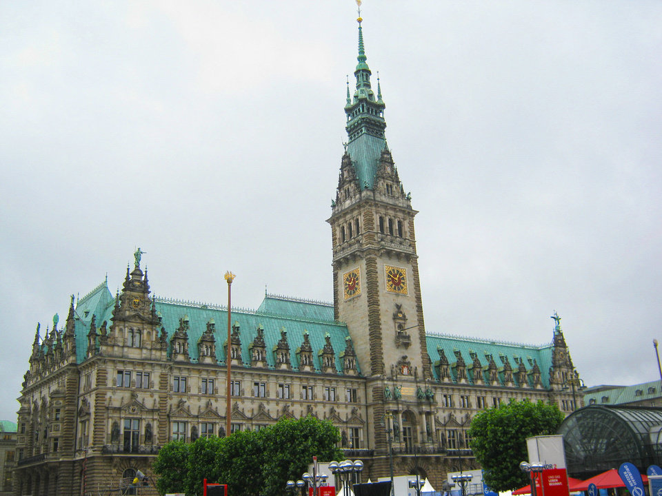 Hamburg built its city hall in the late 19th century to emphasize  the wealth and grandeur of turn-of-the-century imperial Germany.   Photo by Ian Watson   <strong>Photo by Ian Watson</strong>