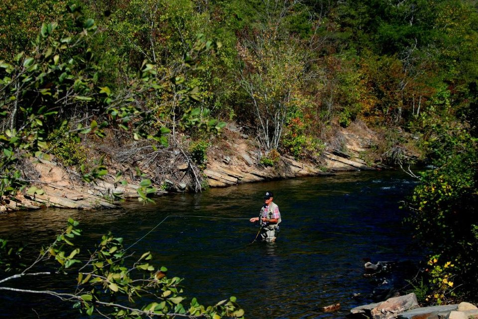 Trout fishing good at lower mountain fork river bad at for Illinois river fishing