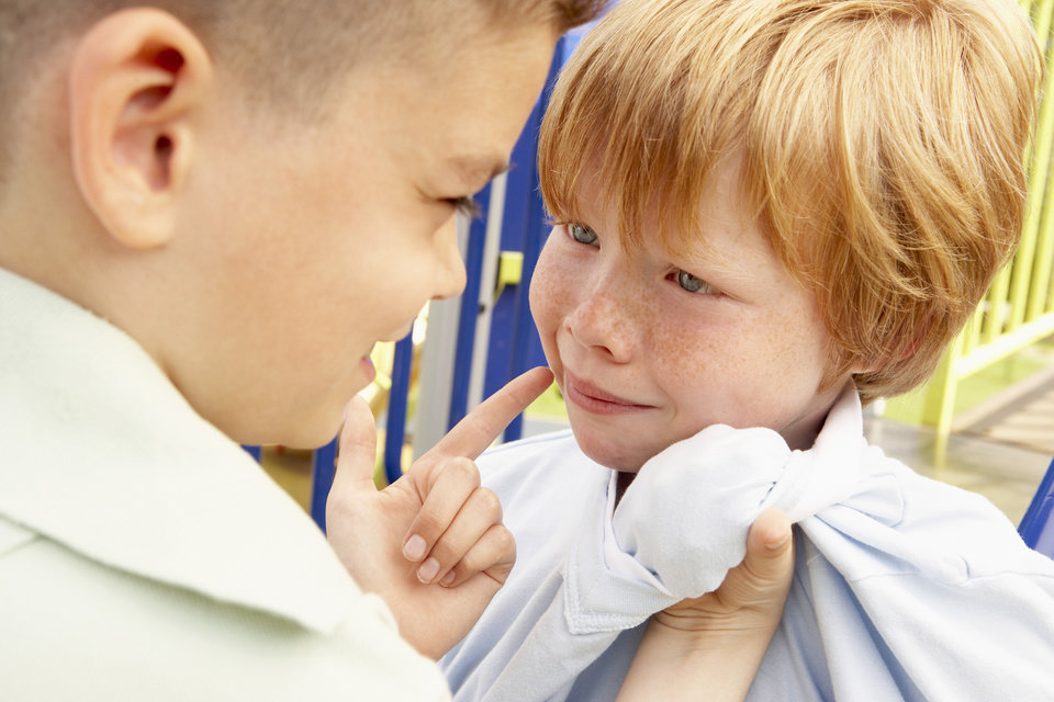 Photo -  When nobody tells a child to stop hurting others, they can become more hurtful and eventually become a bully. Ideally, before any of this takes place, parent and teacher involvement is vital. Thinkstock photo   BananaStock -  Getty Images/BananaStock RF