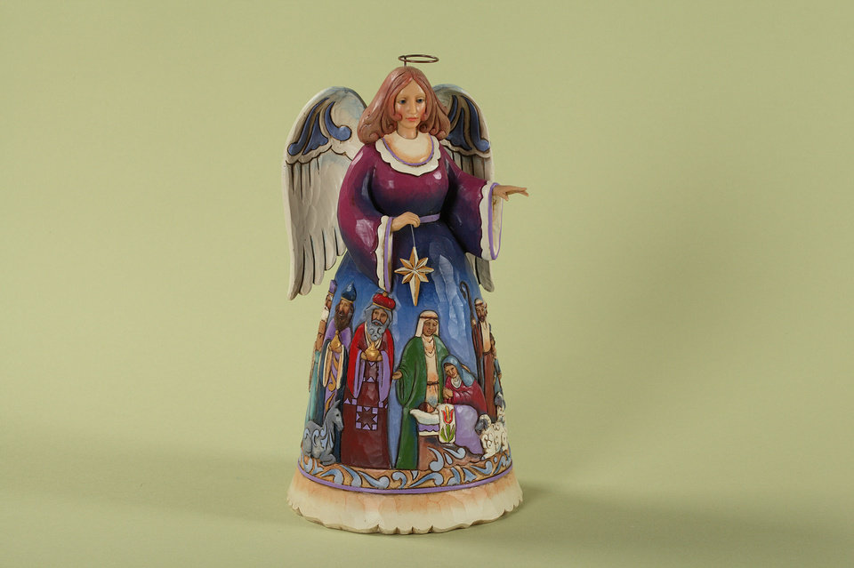 Artist Jim Shore's designs include angel figurines like this one.  PHOTO PROVIDED