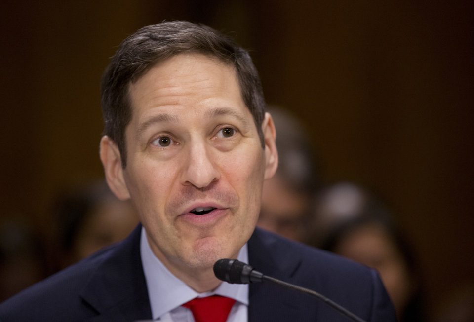 Photo - In this July 13, 2016 file photo, former Centers for Disease Control and Prevention Director Tom Frieden testifies on Capitol Hill in Washington.  [AP Photo/Manuel Balce Ceneta, File]
