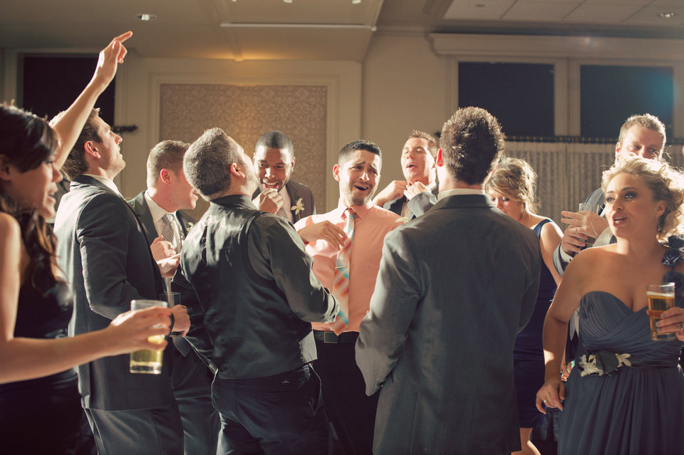 Photo - Guests dance to the music of party band Black Tie Optional. Photo by Traina Photography.