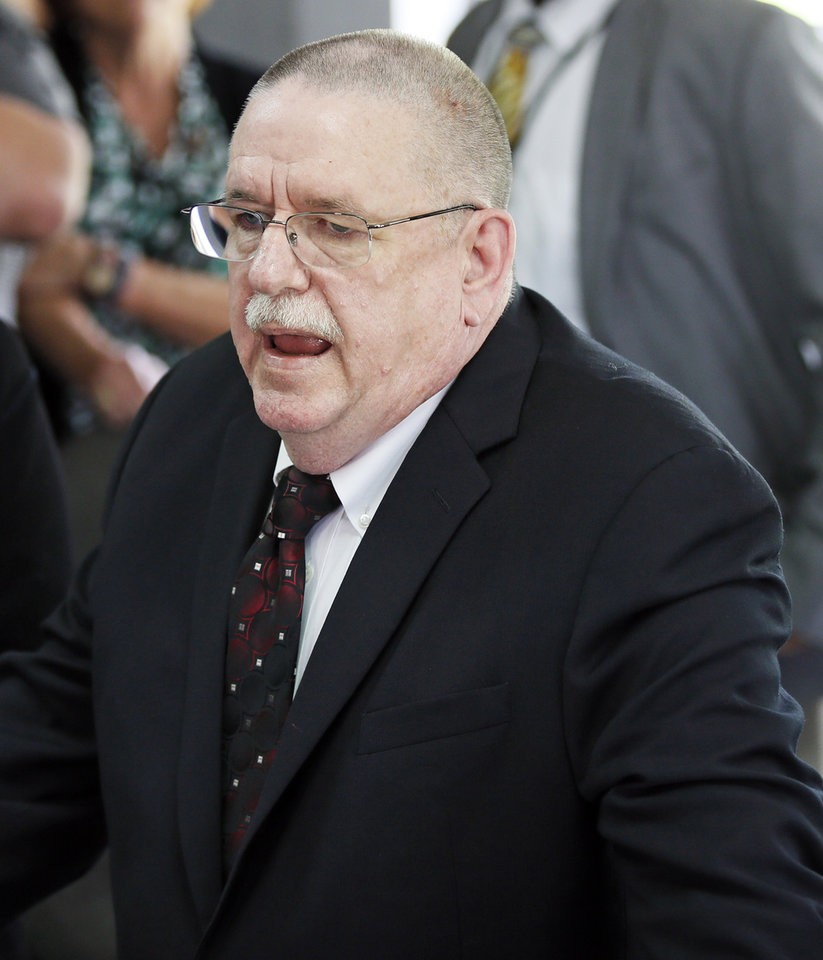 Photo - Robert Patton, director of the Oklahoma Department of Corrections, announces a stay of execution for Richard Eugene Glossip at the Oklahoma State Penitentiary in McAlester, Okla., Wednesday, Sept. 16, 2015. Photo by Nate Billings, The Oklahoman