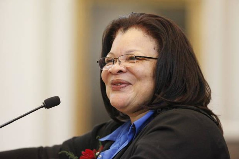 Photo - Alveda C. King, author, anti-abortion activist and niece of civil rights leader Martin Luther King Jr., speaks at the 2010 Rose Day Rally at the Oklahoma State Capitol. Alveda King will be keynote speaker at the 2018 rally on Wednesday, Feb. 7. [Oklahoman Archives]