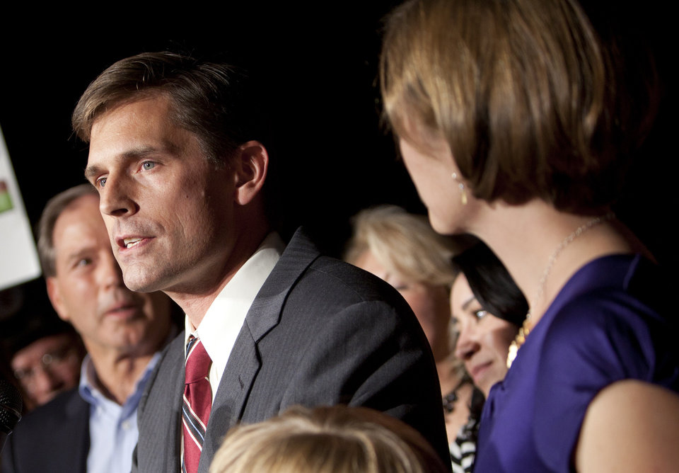 Photo -   FILE - In this Nov. 6, 2012 file photo, Sen.-elect Martin Heinrich, D-N.M.,speaks to supporters in Albuquerque, N.M. (AP Photo/Craig Fritz, File)