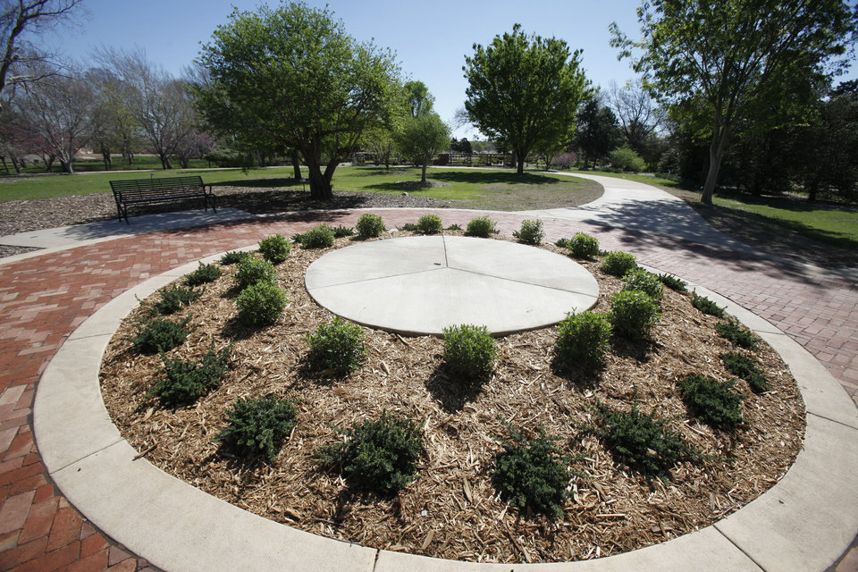 This is one of the features at the arboretum at Will Rogers Gardens in Oklahoma City, OK, Friday, March 23, 2012,  By Paul Hellstern, The Oklahoman
