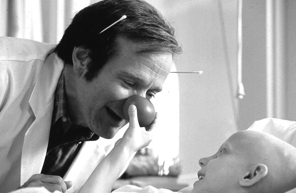 "Photo - Robin Williams stars in ""Patch Adams."""