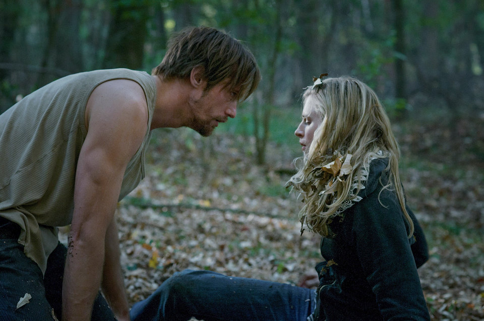 "Alexander Skarsgard and Brit Marling star in ""The East.""  AP Photo <strong>Myles Aronowitz</strong>"