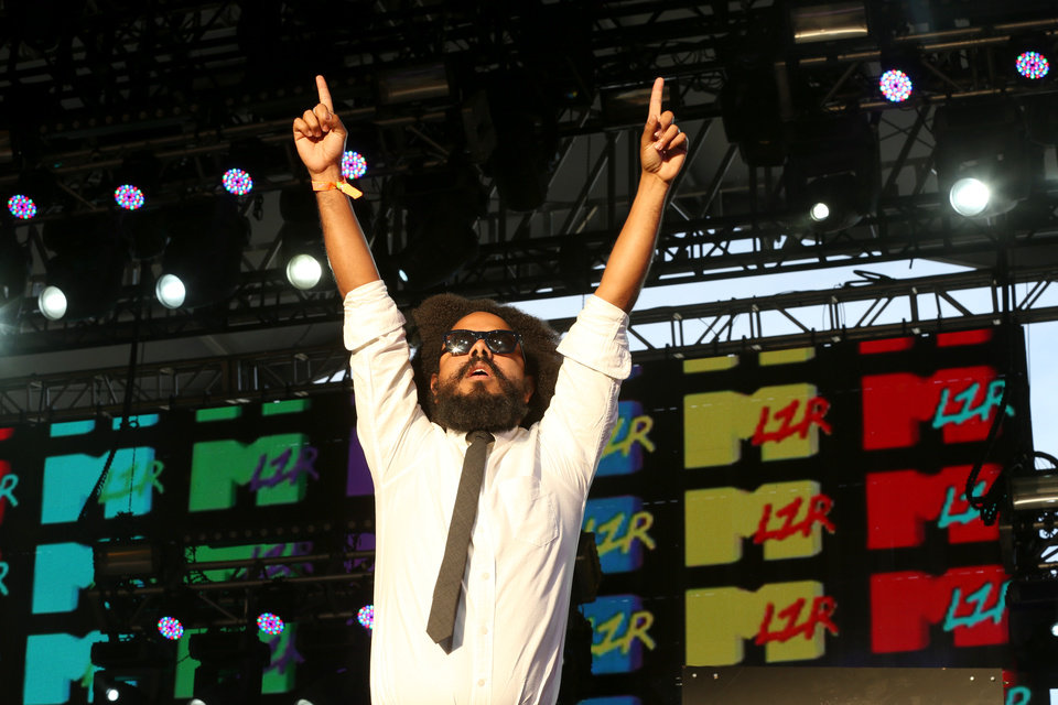 Photo - FILE - This April 13, 2013 file photo shows Major Lazer performing on day 2 of weekend 1 at the 2013 Coachella Valley and Music Festival at the Empire Polo Club in Indio, Calif.  Major Lazer's