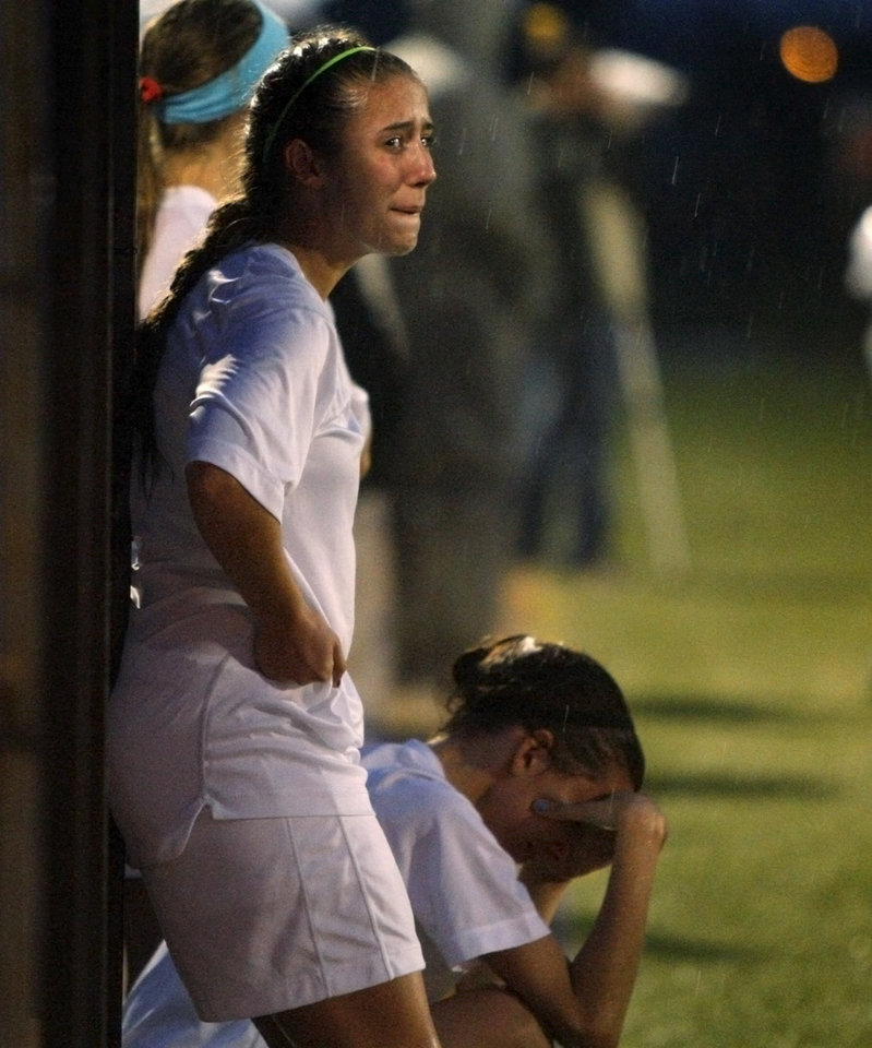 Edmond North's Shelby Sewell watches during the final minutes of their loss to Bishop Kelley in the girls 6A state championship soccer game in Newcastle, Okla., Friday, May 11, 2012. Photo by Bryan Terry, The Oklahoman