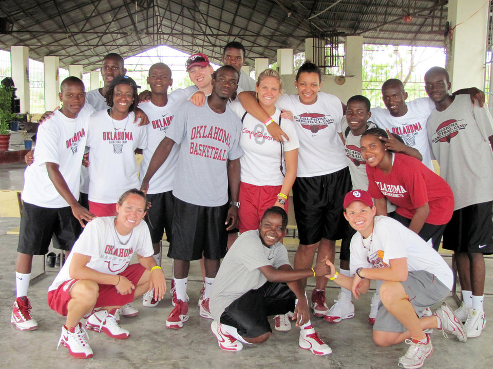 Photo - UNIVERSITY OF OKLAHOMA / WOMEN'S COLLEGE BASKETBALL TEAM / HAITI TRIP: The OU women's bsketball team trip to Haiti. Provided ORG XMIT: KOD