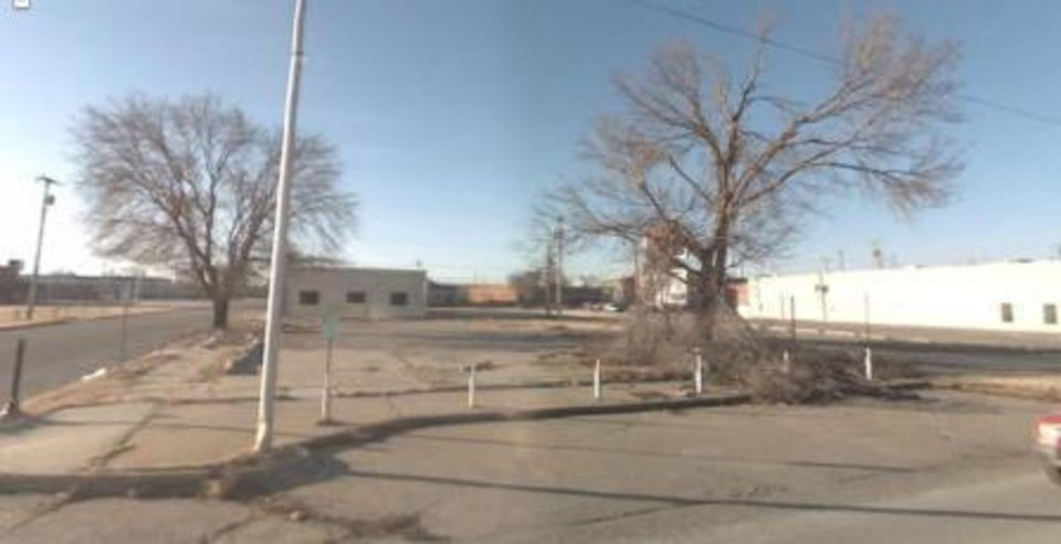 Photo -  600 W Sheridan looked like this when John Hunsucker bought the empty lot in 2007. At the time, Film Row was still an eyesore lined with empty and boarded up buildings, with crumbling sidewalks filled with vagrants.