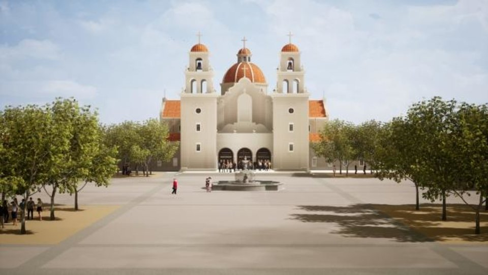 Photo -  An artist's rendering shows the planned Blessed Stanley Rother Shrine to be built in Oklahoma City. [Archdiocese of Oklahoma City]