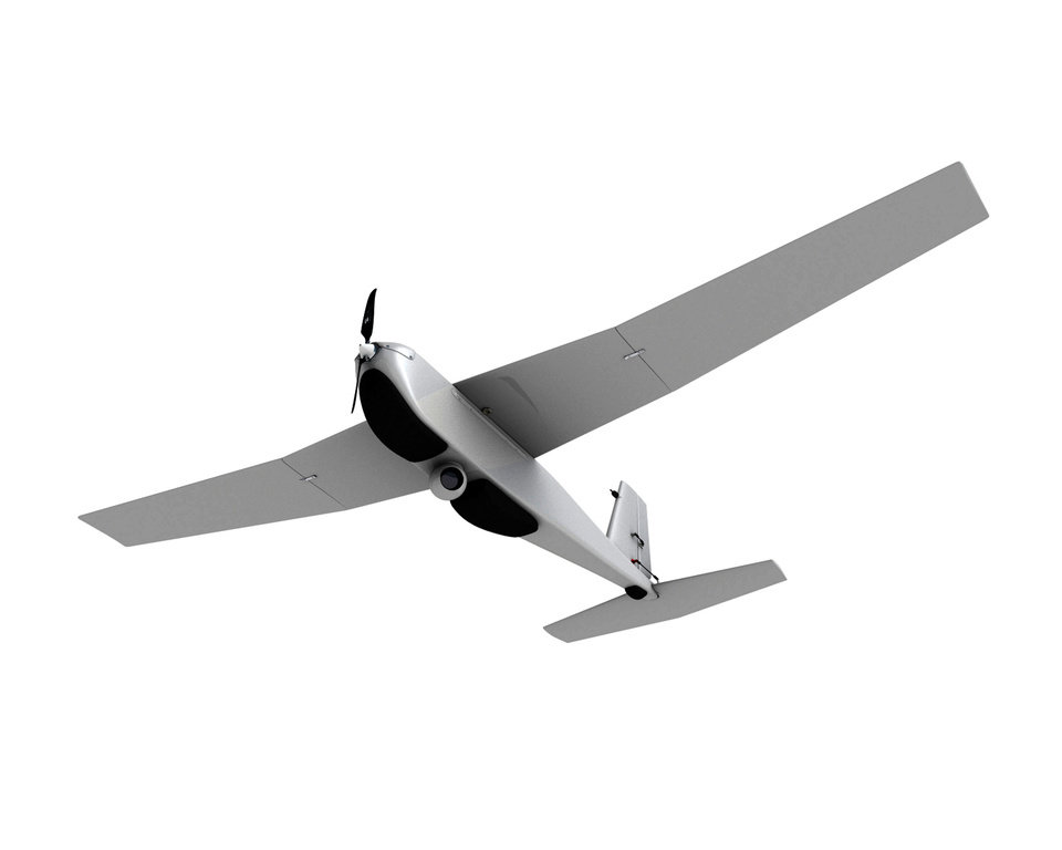 Photo - This undated photo provided by AeroVironment shows a Puma drone aricraft. The Federal Aviation Administration (FAA) said Tuesday, June 10, 2014 it has granted the first permission for commercial drone flights over land, the latest effort by the agency to show it is loosening restrictions on commercial uses of the unmanned aircraft. Drone maker AeroVironment of Monrovia, Calif., and BP energy corporation have been given permission to use a Puma drone to survey pipelines, roads and equipment at Prudhoe Bay in Alaska, the agency said. The first flight took place on Sunday. The Puma is a small, hand-launched craft about 4 1/2 feet long and with a 9-foot wingspan. It was initially designed for military use. (AP Photo/AeroVironment)