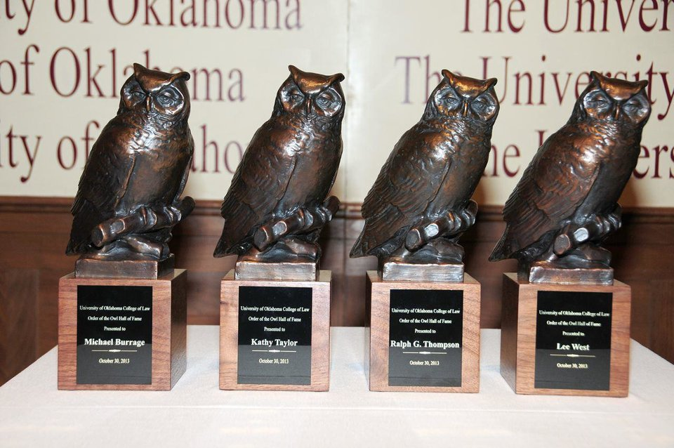 Photo - Order of the Owl Hall of Fame trophies. PHOTO PROVIDED