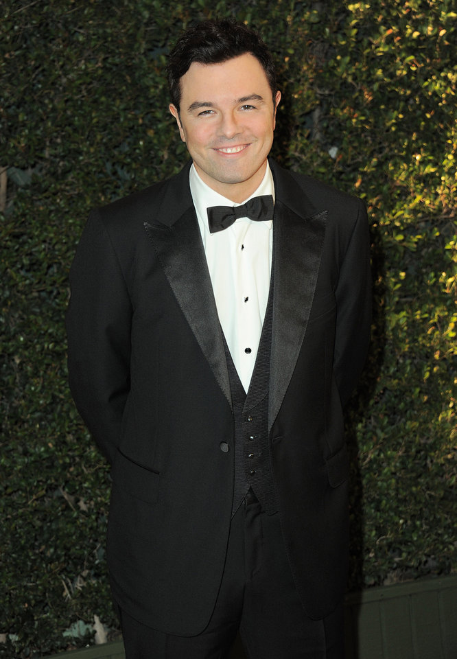 FILE - This Dec. 1, 2012 file photo shows Seth MacFarlane at the 4th Annual Governors Awards in Los Angeles. Academy officials say Oscar host Seth MacFarlane will join actress Emma Stone to reveal the nominees for the 85th annual Academy Awards. This is the first time since 1972 that an Oscar host has participated in the nominations announcement. Charlton Heston was the only other show host to announce Oscar nominees. MacFarlane and Stone will reveal the contenders for the 85th annual Oscar show on Thursday from the Academy of Motion Picture Arts and Sciences\' headquarters in Beverly Hills, Calif. The Academy Awards will be presented Feb. 24 at the Dolby Theatre in Los Angeles. (Photo by Jordan Strauss/Invision/AP, file)