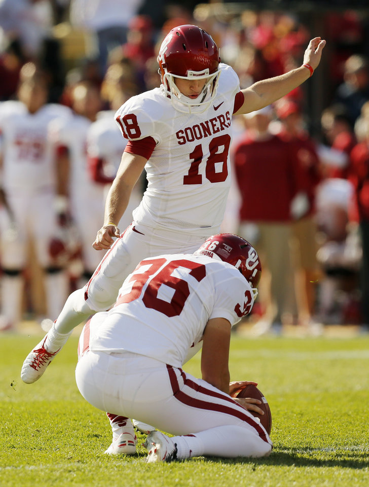 83.7 percent of his career field-goal attempts. PHOTO BY NATE BILLINGS, THE OKLAHOMAN