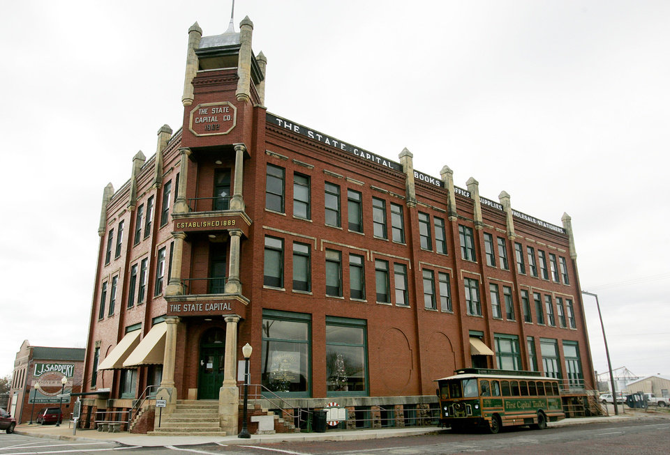 Photo -  The State Capital Publishing Co. building in Guthrie is shown. THE OKLAHOMAN ARCHIVES   Jaconna Aguirre -