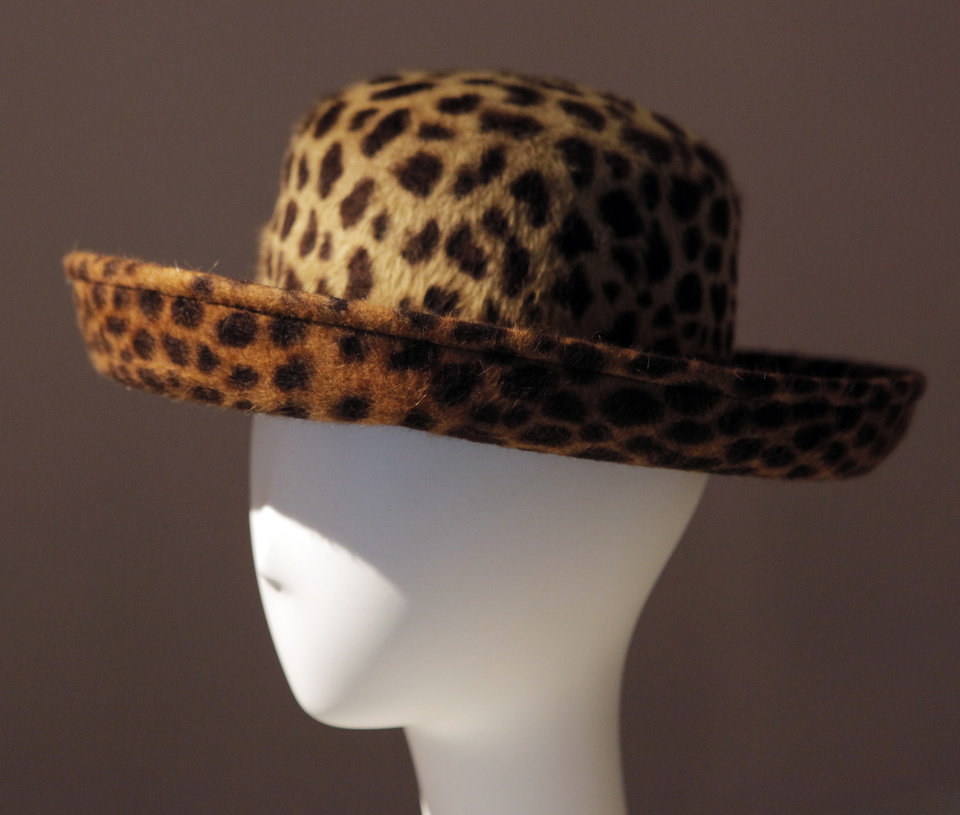 """Katz: Faux Leopard Fur"" in the exhibit ""Mother's Hats: The Doris Elliott Collection"" at City Arts Center in Oklahoma City, Thursday, June 24, 2010. The exhibit features hats owned by the mother of Rand Elliott, representing the heyday of Downtown Oklahoma City. Photo by Nate Billings, The Oklahoman"