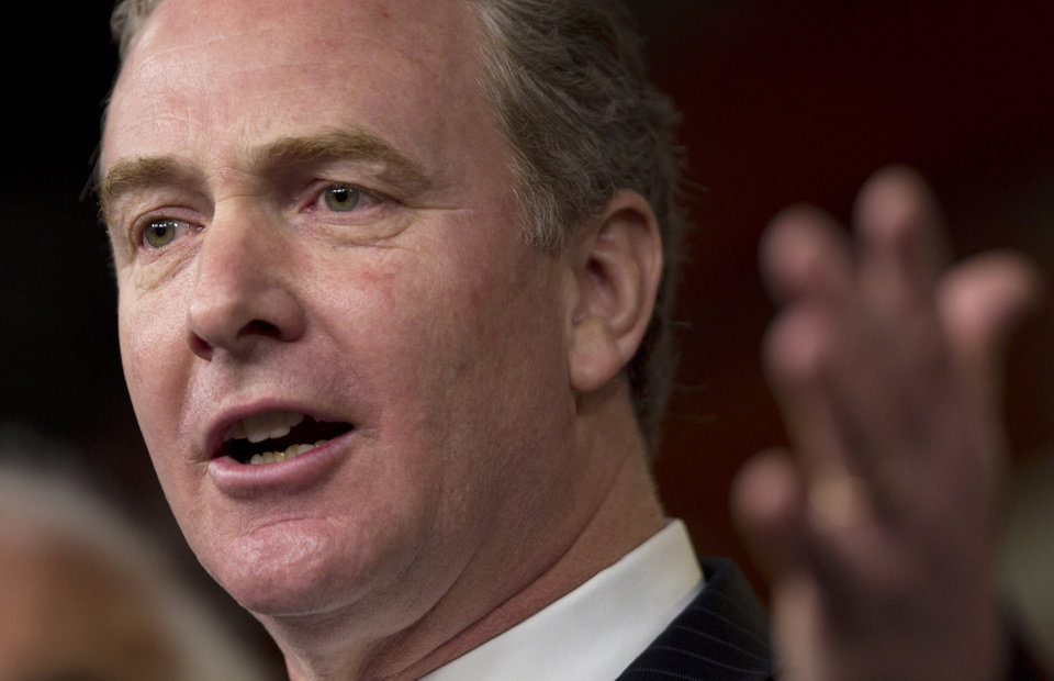 "Photo -   FILE - This Dec. 22, 2011 file photo shows Rep. Chris Van Hollen, D-Md., ranking Democrat on the House Budget Committee, speaking during a news conference on Capitol Hill in Washington. Republican leaders say the government can raise tax ""revenue"" without raising tax ""rates."