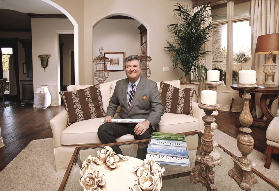 Photo - Mark Dale, owner of Oklahoma City's Carriage Homes and 2010 president of the Central Oklahoma Home Builders Association, is shown in the living room of one of his model homes in The Abbey section of the Fairview Farms addition northwest of NW 150 and Western Avenue. PHOTO BY JIM BECKEL, THE OKLAHOMAN
