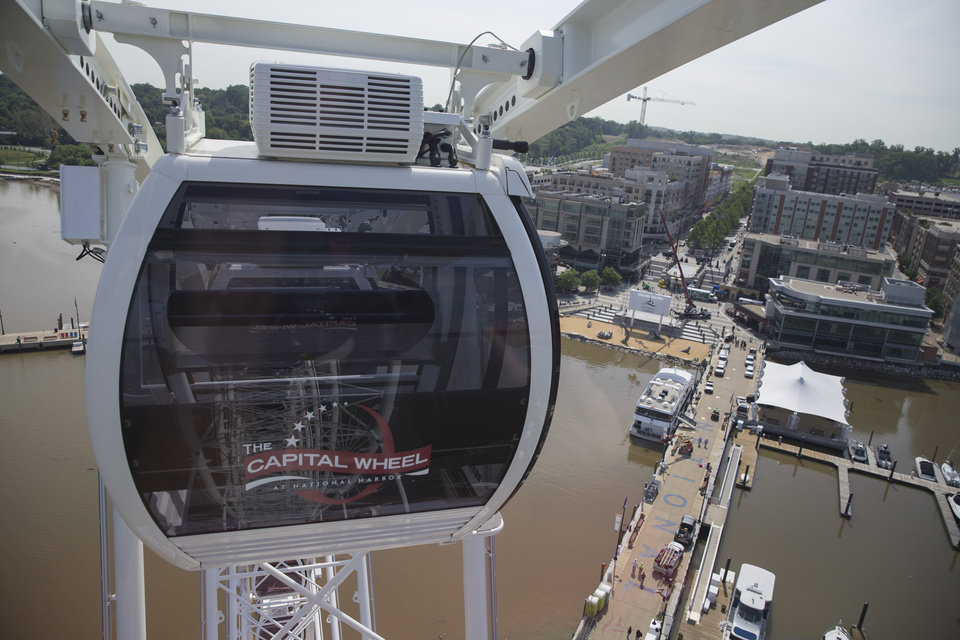 Photo - This photo taken May 20, 2014 shows a view of National Harbor from the top of the