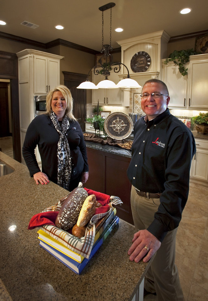 Dan and Amy Reeves of Landmark Fine Homes, named as Best Builder by Builder Magazine, at this model home 4601 Kingsland Road on Thursday, March 8, 2012, in Norman, Okla.  Photo by Steve Sisney, The Oklahoman