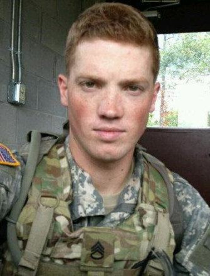 Photo - Rex Schad of Edmond, is shown in this 2012 photo. Schad, an Army staff sergeant, was killed Monday, March 11, 2013, in Afghanistan. Photo provided  PROVIDED