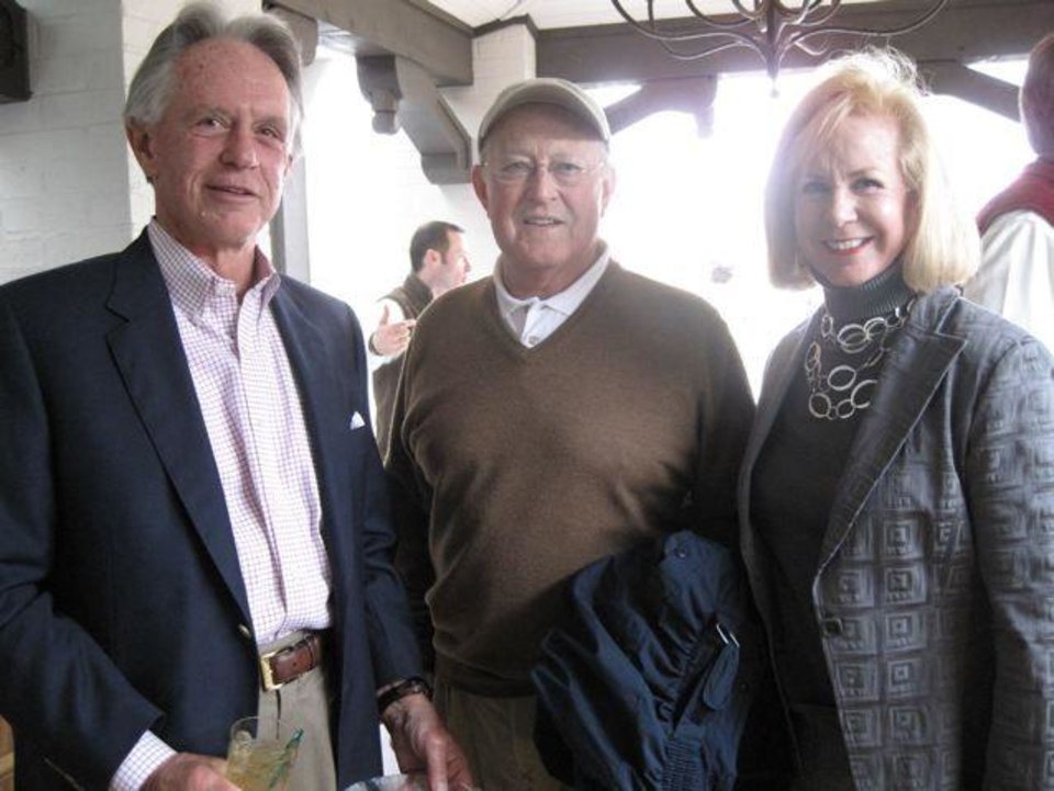 GOLF SHOP GRAND OPENING....Bill Rodgers, Dr. David Flesher and Linda  Rodgers were at the Grand Opening of the Oklahoma City Golf and Country Club's Golf Shop. (Photo by Helen Ford Wallace).