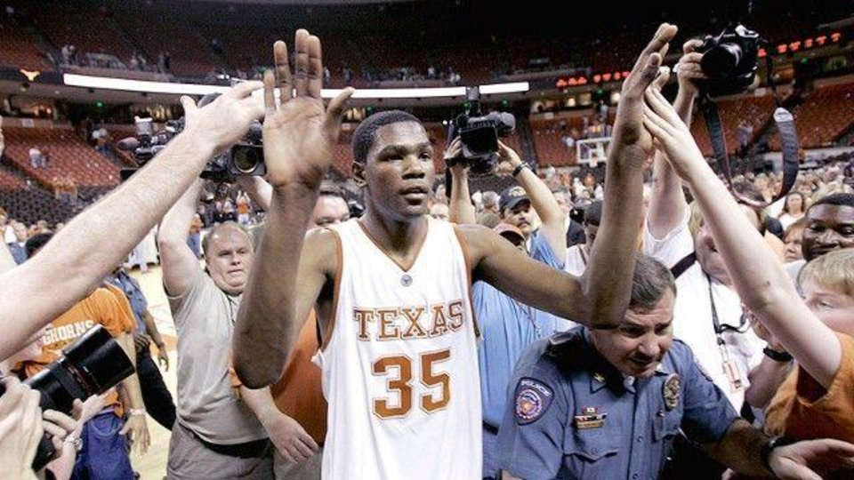 Kevin Durant played one year at Texas. / AP PHOTO/ERIC GAY