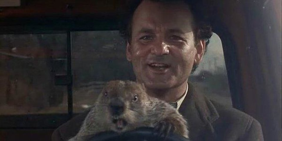 "Bill Murray in ""Groundhog Day."""
