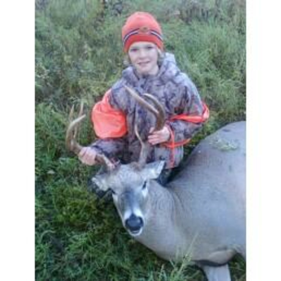 Photo -  Braden Finton of Stillwater with his first deer