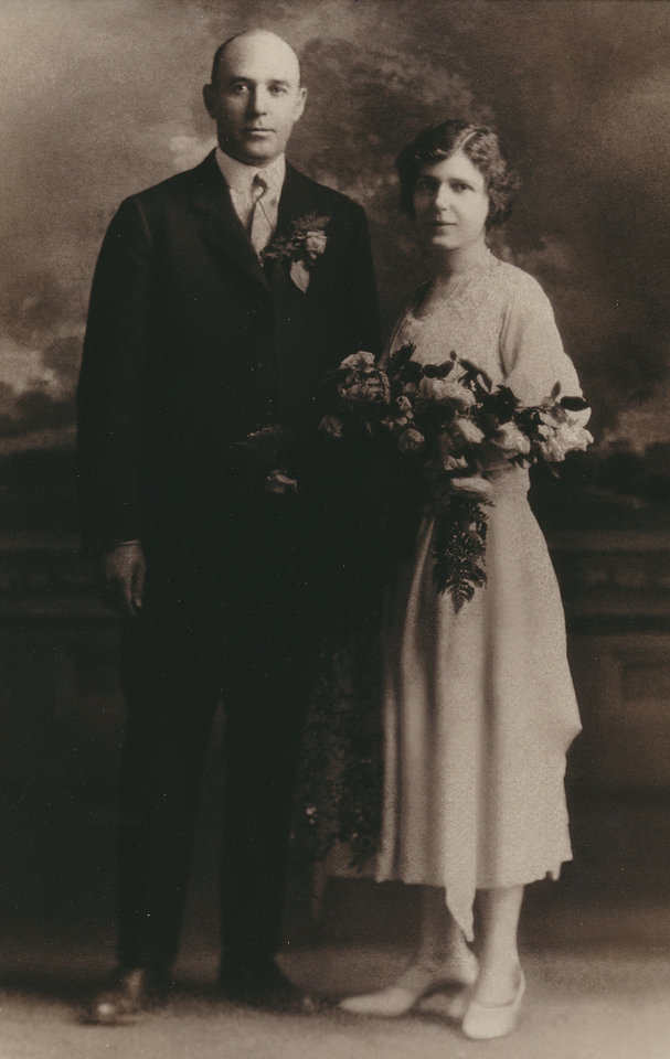 Photo - Sherman Wesley Eager and Ernestine Mary Foerster on their wedding day in May 1922. Photo provided by Susan Crowder.