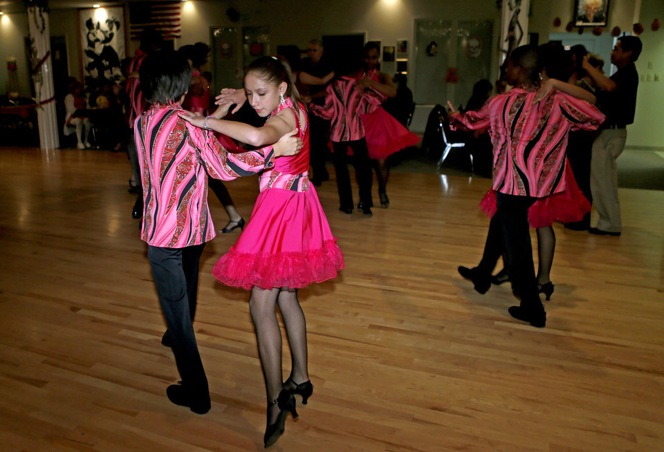 Nancy Vazquez, 11, and Thomas Ascencio, 12, dance Friday, Oct. 19, 2012, during an exhibition performance. Photo by Bryan Terry, The Oklahoman <strong>BRYAN TERRY - THE OKLAHOMAN</strong>