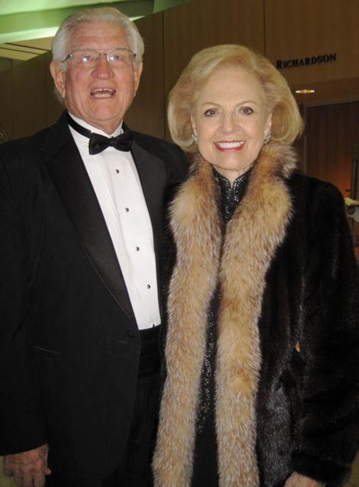 FIRST LADIES GALA....Norris and Betty Price arrive at the First  Ladies Gala. (Photo by Helen Ford Wallace).