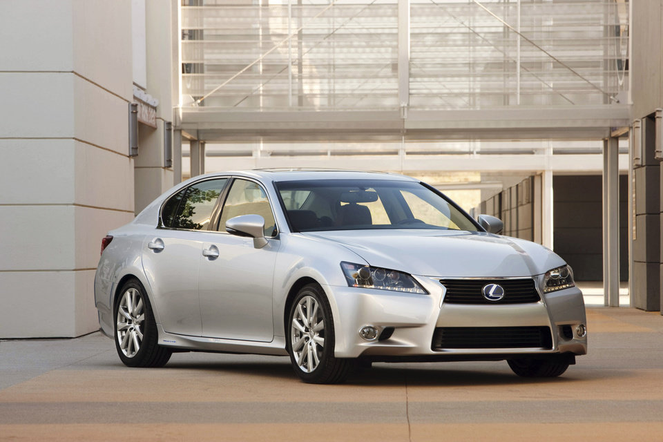 Photo - This undated image made available by Toyota shows the 2013 Lexus GS 450h. (AP Photo/Toyota)