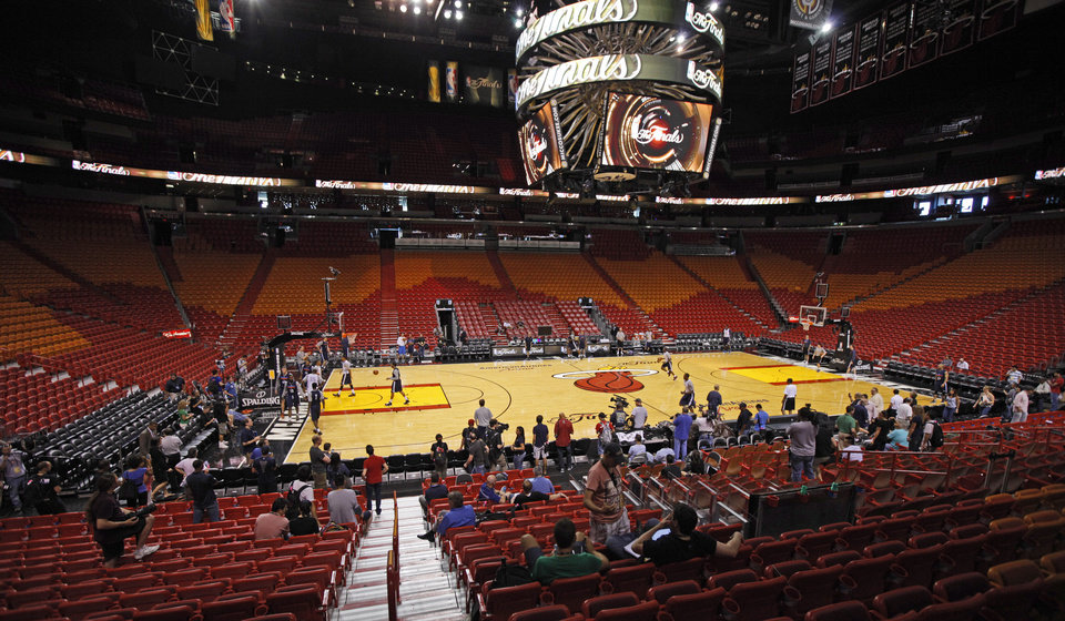 Photo - The Oklahoma CIty Thunder team practices for Game 3 of the NBA Finals between the Oklahoma City Thunder and the Miami Heat at American Airlines Arena in Miami, Saturday, June 16, 2012. Photo by Bryan Terry, The Oklahoman