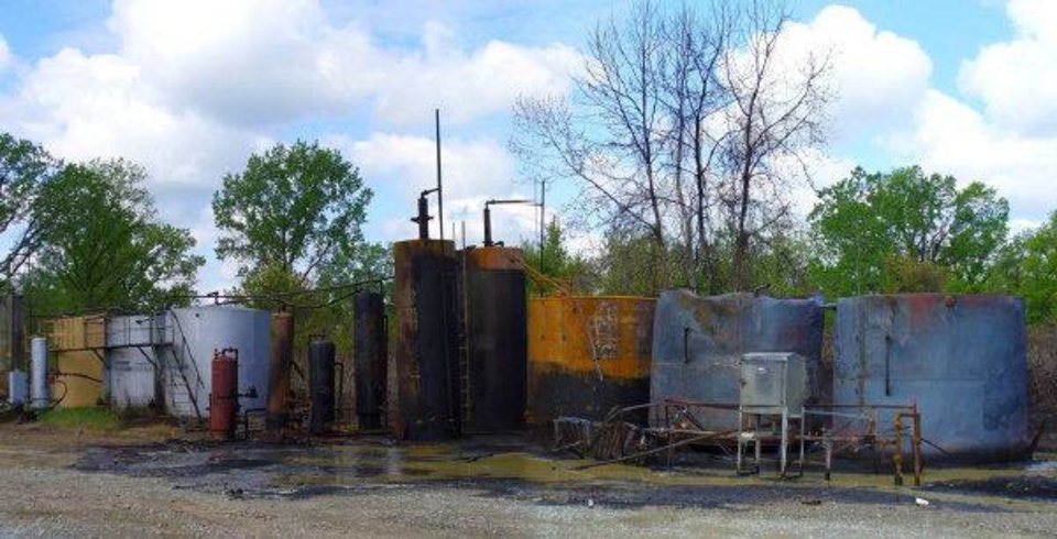 Photo - This is the oil storage site near Weleetka where an April 2010 explosion resulted in the death of 21-year-old Zachary Pangle.  PROVIDED