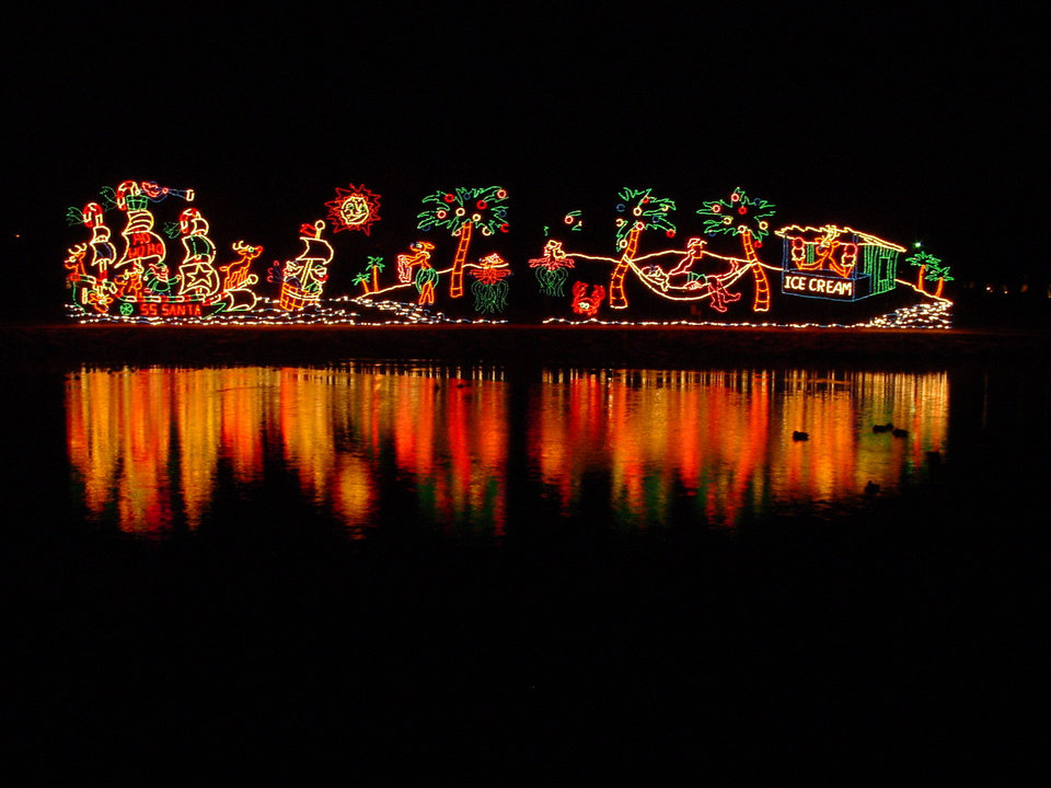Photo - Lights at Yukon's Christmas in the Park. Photo provided.