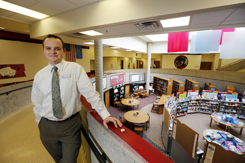 Photo - Cordell Ehrich, Principal, Cimarron Middle School poses for a photo in Edmond, Thursday October 3, 2013. Photo By Steve Gooch, The Oklahoman